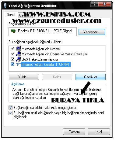 asd, youtube giriş tcp/ip domain dns değiştirme dns ayarları dns Bilgisayar   İnternet adres