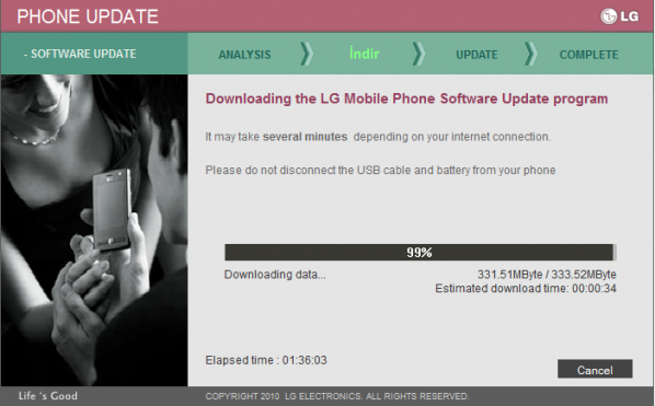 LG P970 Optimus Black Android 4.0 Güncellemesi2