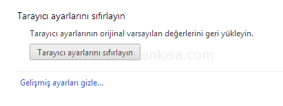 google-chrome-sifirlamak