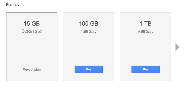 google-drive-depolama-alanlari