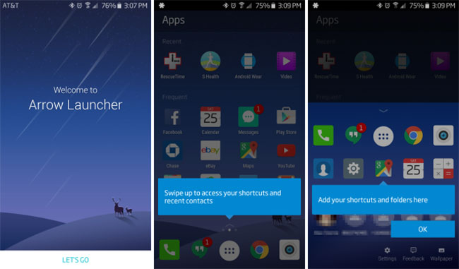 android-arrow-launcher