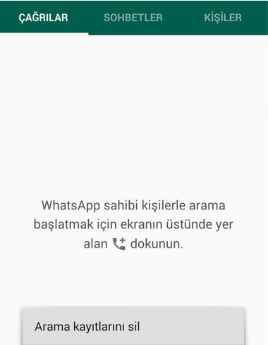 Whatsapp Arama Kaydı Silmek